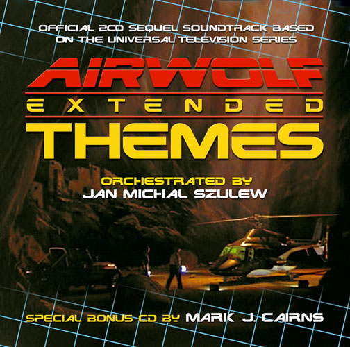 Airwolf Extended Themes 20pp Cover souvenir booklet
